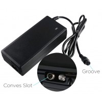 2A 42V AC DC Power Adapter Battery Charger For Balance Scooter Wheel EU Plug 3Hole