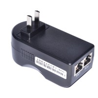 48V 0.5A Wall Plug POE Injector Ethernet Adapter IP Phone Camera Power Supply US